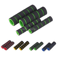 4pcs/set MTB BMX Mountain Bike Bicycles Handlebar Grips Fixed Gear Fixie Handle Bar End Grips Foam Cover Bicycle Parts