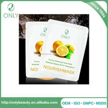 Hot sale fruit extract Anti Wrinkle Hydrating Anti Aging Whitening Facial Mask