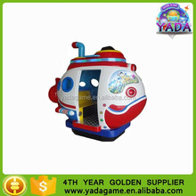 Diving fish coin operated kiddie ride with game for sale