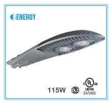 ul, DLC aluminum led street light housing 115w with 5years warranty