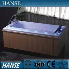 HS-B209 cheap wooden bathtub/ small square bathtub/ small wooden bathtub