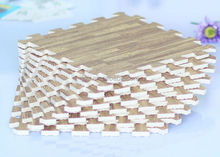 4 Pack of 24'' x 24'' Interlocking Wood Grain Anti-Fatigue Mats