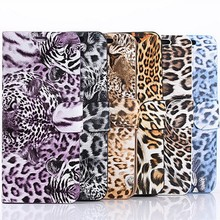 2015 hot mobile phone leopard print leather case for iphone 5