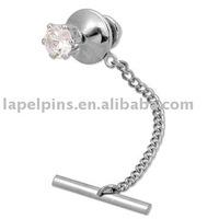 Crystal Tie Tack Tie Chain