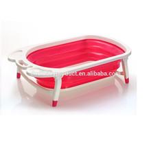 2015 vendita calda! Plastica fa qulity vasca per bambini pieghevole/vasca da bagno pieghevole