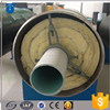Steam jacked pipe API5L seamless pipe with rockwool material insulation inside for steam