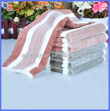 100% cotton absorbent velour striped towel fabric