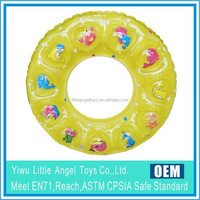 Wholesale Inflatable Five Color Assorted Swimming Tube Rings