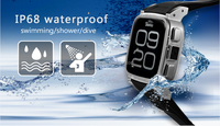 SNOPOW W1S 3G transflective screen IP68 waterproof android 4.4 dual core 1G RAM 8GROM waterproof cell phone watch