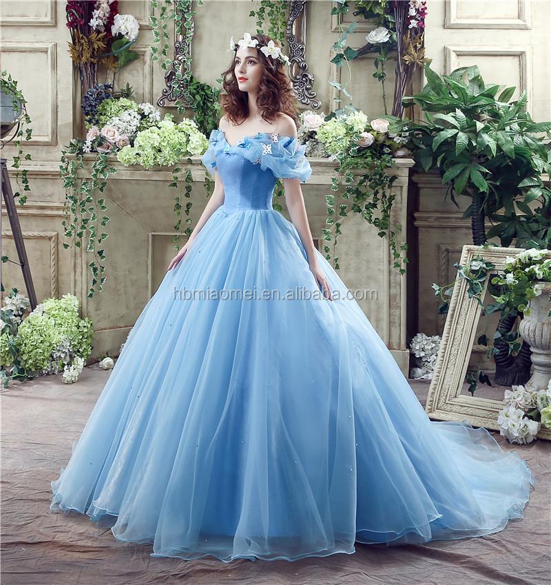 Cinderella Dress Organza Ball Gown Wedding Dresses 2017 Sleeveless ...