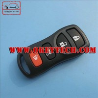Hot sale nissan tiida 3+1 buttons remote case for car key nissan remote key shell