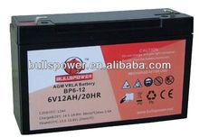 AGM/VRLA/SLA batteries 6v12ah for UPS/inverter/converter/scooter
