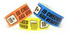over 21 waterproof tyvek id wristbands
