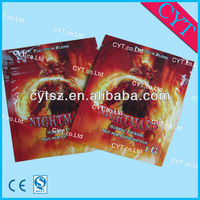 Nightmare Foil zipper herbal incense bags for spice