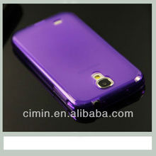 Ultra thin clear TPU Back case for samsung galaxy s4 i9500 --- Purple