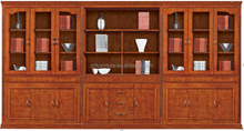 Antique office furniture 9-doors wood file cabinet (HY-C629)