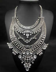 Crystal Necklace Necklace for Women Rhinestone Fashion Jewelry Vintage Necklace 2015 New Design