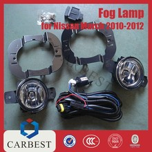 High Quality PP Car Fog Light for Nissan March Parts 2010-2012