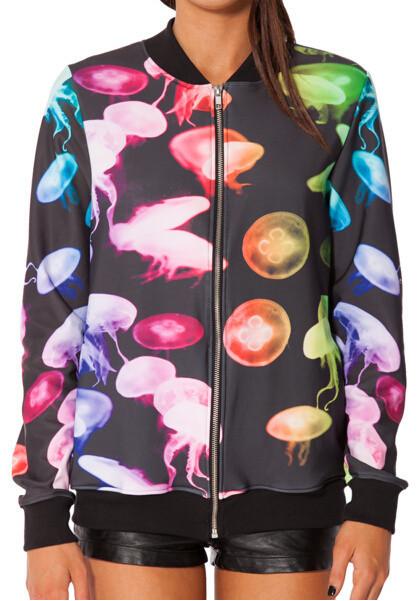 Восток вязание новые женщины длинный рукав толстовки мертвенное hallows флаг куртка бейсбол равномерное галактики, топы, верхняя одежда