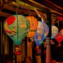 Glittering decoration hot air paper lantern for event & party