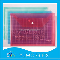 Factory clear plastic envelope file folder, clear plastic envelope bags
