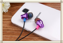 2015 wholesale flat wire earphone earbud with super bass for apple iphone ipod