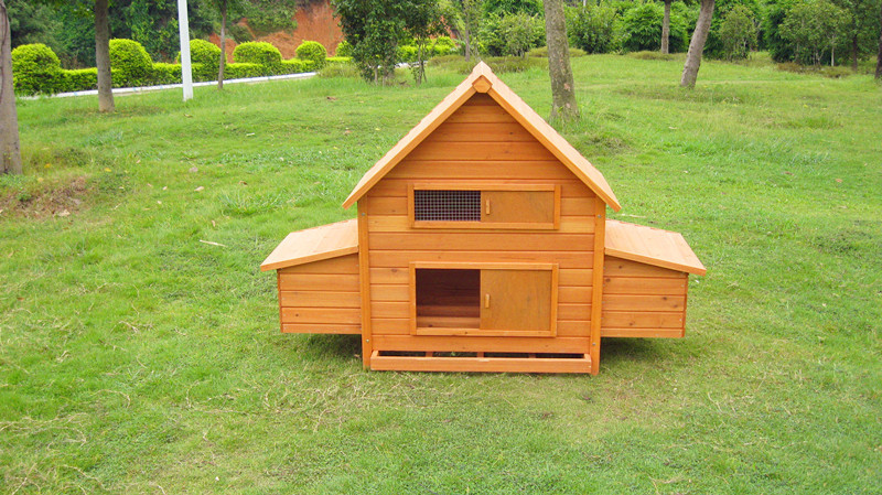 HOT! wooden chicken coop with run,pull out tray