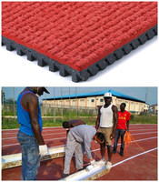 IAAF Approved Prefabricated Rubber Running Track For 400 Meter Standard Track Field