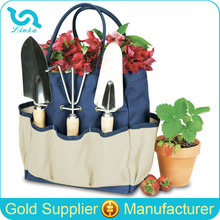 With Exterior Pocket 600D Polyester Large Garden Tote Garden Tool Bag Garden Bag