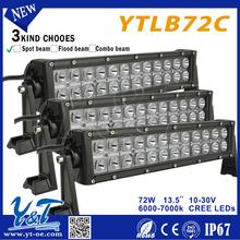 Y&T 72W motorhome rv led lights new product double row led bar Dicast aluminum housing straight led light bar