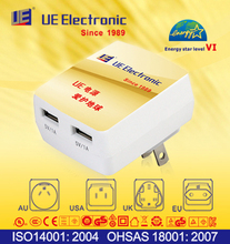 Energy Star Level VI China manufacture high quality stable function UL CE GS PSE SAA approved USB charger