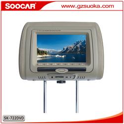 HD Digital Screen USB SD IR FM Game Car Headrest Monitor DVD Player