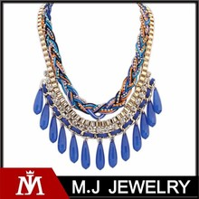 fashion statement necklace , colorful necklace design