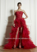 Beautifu Red Sexy Banquet Hi-lo Evening Dress 2012