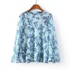 MS62865W printing long sleeve womn blouse indian clothing