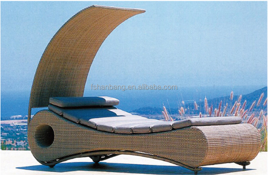 Outdoor Pool aluminum beach lounge chair sun lounger