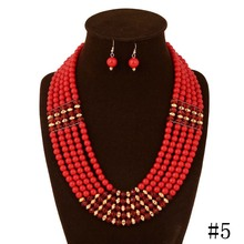 2015 Zhejiang heaton November new European and American fashion brand necklace pearl necklace of foreign trade wooden necklace