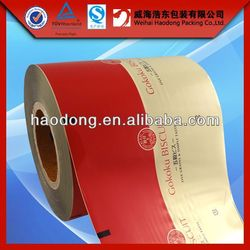 China manufacturer custom printed moisture proof laminating film rolls packing material