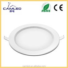 LED Panel Light Aluminum Plastic Downlights CE RoHs 15W 24W Slim Round Flat Design