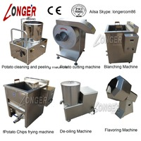 Potato chips plant cost/potato chips factory machines
