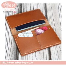 2015 men genuine leather brand travel wallet