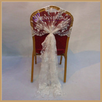 C122B wholesale fancy chair sashes lace chair covers wedding