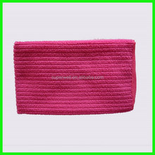 100% polyester red terry ribbed microfiber cleaning cloth