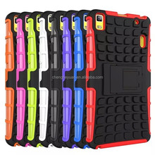 hybrid armor plastic silicone kickstand shockproof phone case cover for lenovo k3 note /a7000
