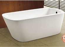 "59"" cUPC USA market best seller one end one slipper end drain bath"