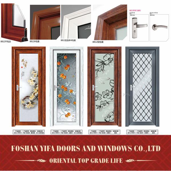 Interior Swinging Kitchen Doors: Hot Sale Kitchen Aluminum Lowes Glass Interior Swing Doors, View Kitchen Swinging Door, Yifort