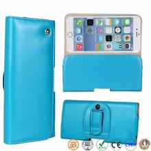 pu leather smarphone puch with belt clip for iphone 6 4.7 inch phone