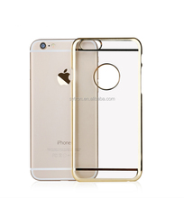 Electroplate Edge Protective Cover Pc Hard Case for Iphone6s Cell Phone Case