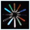 2015 Hot Sale Colorful Crystal Quartz One Hexagonal Point Long Size Pendant