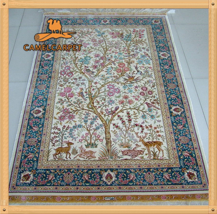 Wholesale 100x152cm Tree Of Life Persian Area Rugs Made In